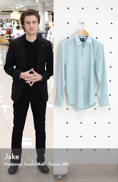 Tech-Smart Trim Fit Stretch Check Dress Shirt, sales video thumbnail