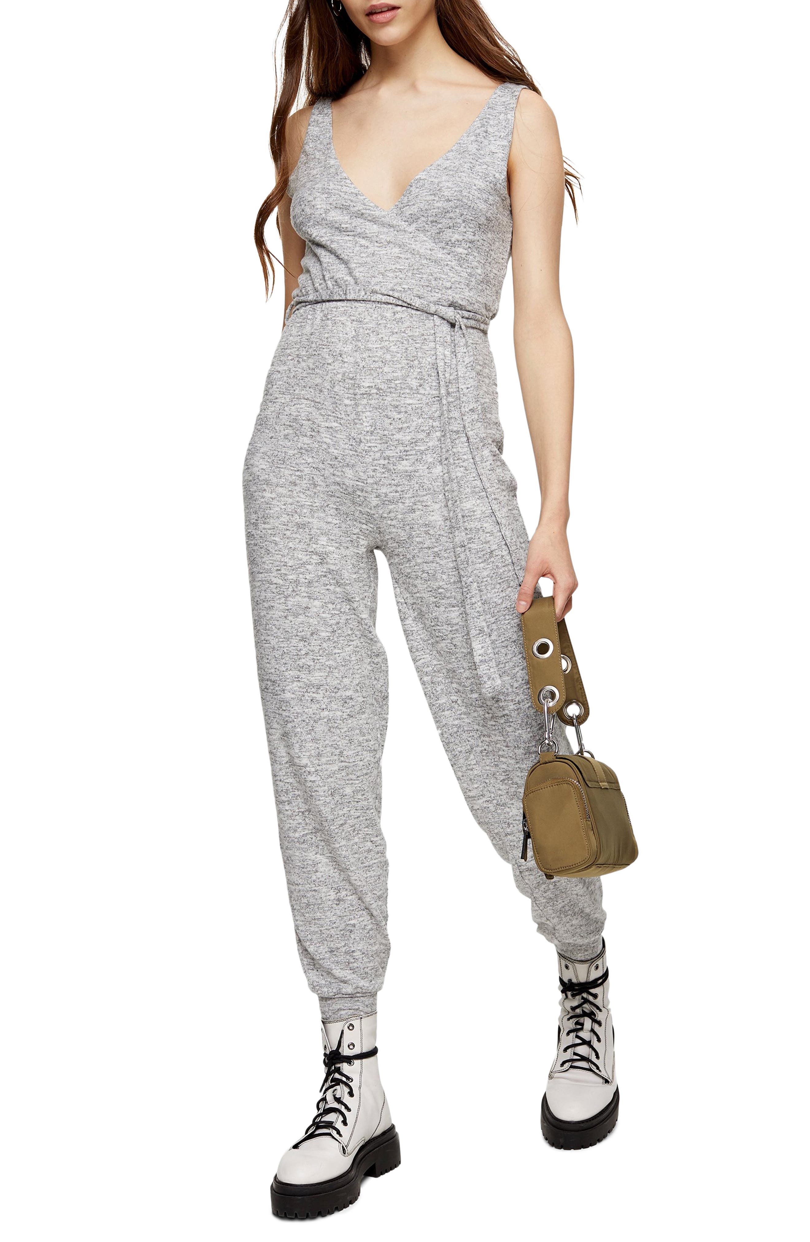 Topshop Knit Jumpsuit