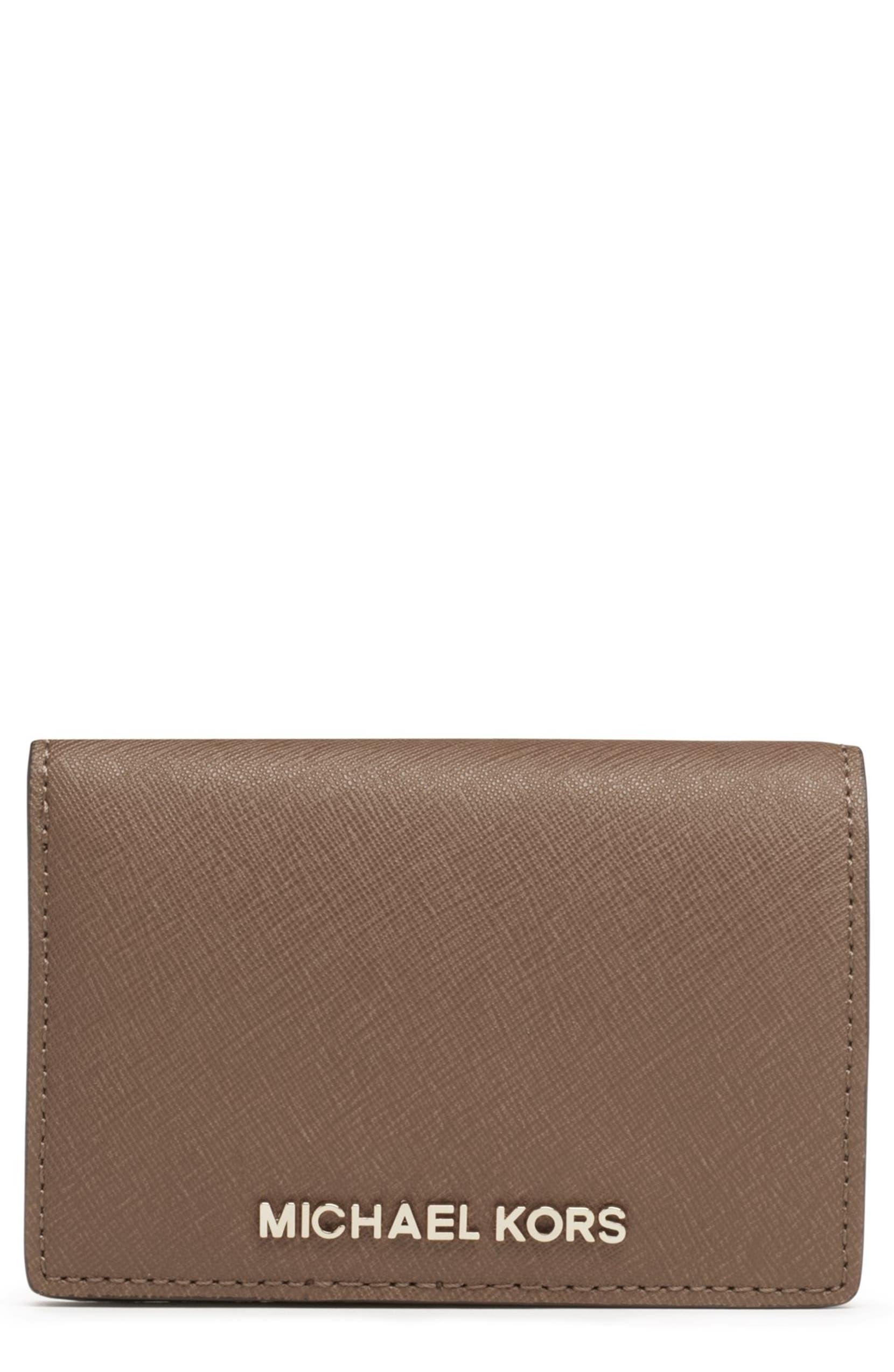 31bf8fa1b72 MICHAEL Michael Kors 'Jet Set - Slim' Saffiano Leather Wallet | Nordstrom