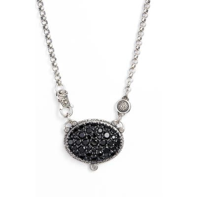 Konstantino Circe Black Spinel Pave Necklace