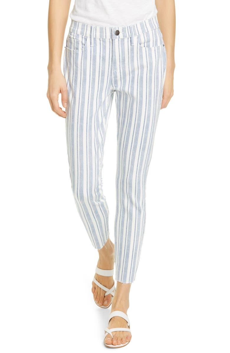 FRAME Le Skinny de Jeanne Surfer Stripe Ankle Skinny Jeans, Main, color, DUTCH BLUE MULTI