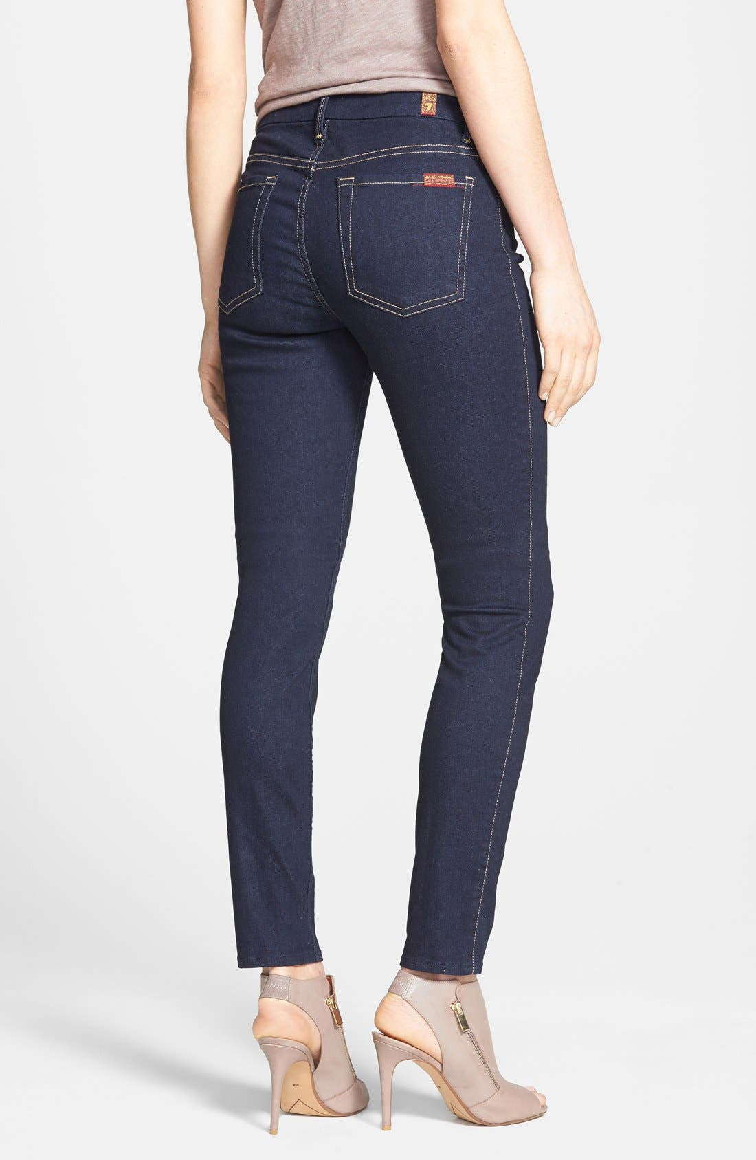 ,                             High Rise Skinny Jeans,                             Alternate thumbnail 2, color,                             400