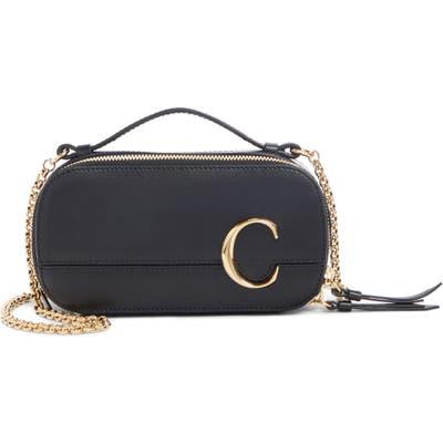 Chloe C Multi Leather Crossbody Bag - Black