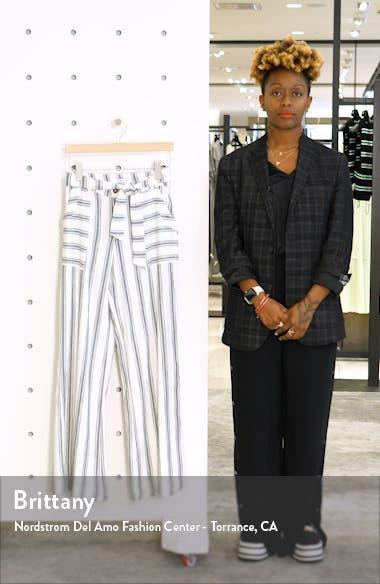 Sandoval Stripe Belted Wide Leg Pants, sales video thumbnail