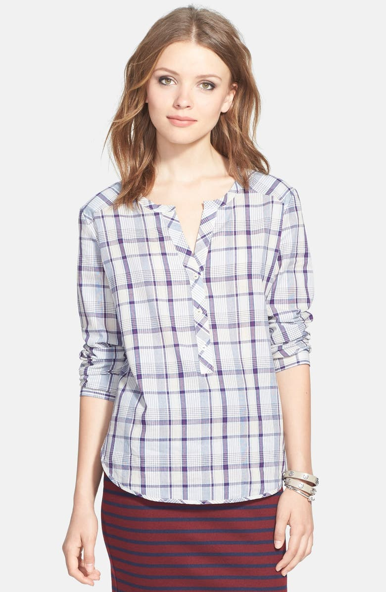 ACE DELIVERY Plaid Henley Shirt, Main, color, 540
