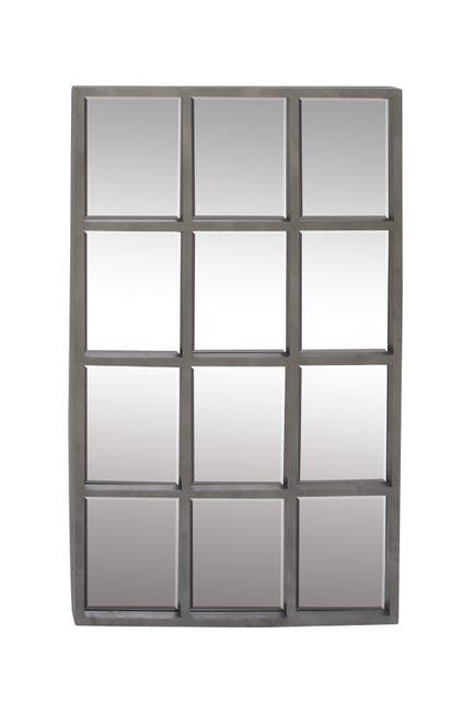 Image of Willow Row Gray/Mirror Contemporary Mirror
