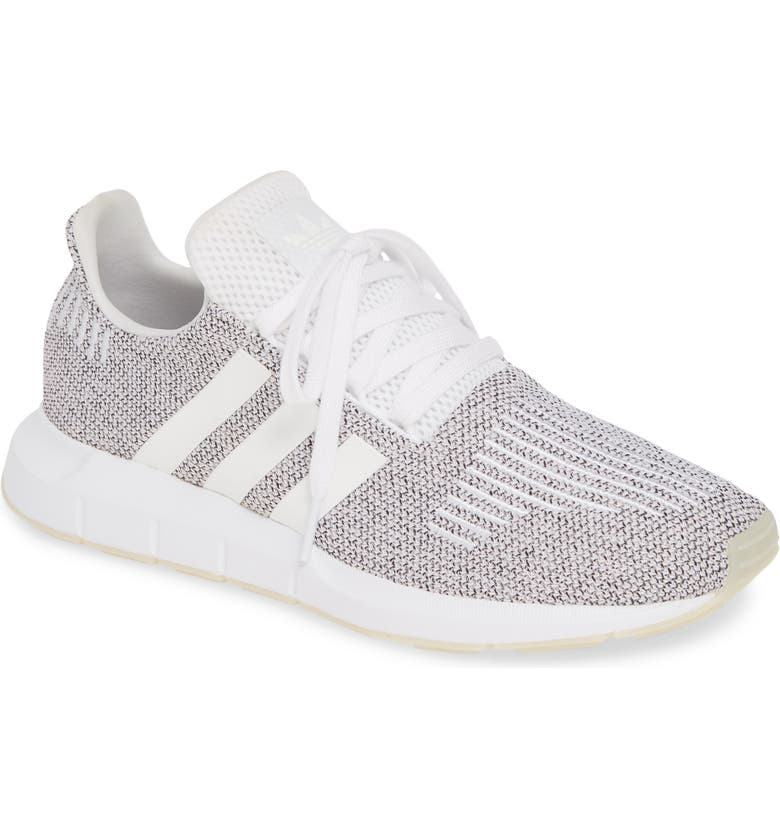 ADIDAS Swift Run Sneaker, Main, color, WHITE/ WHITE/ CORE BLACK