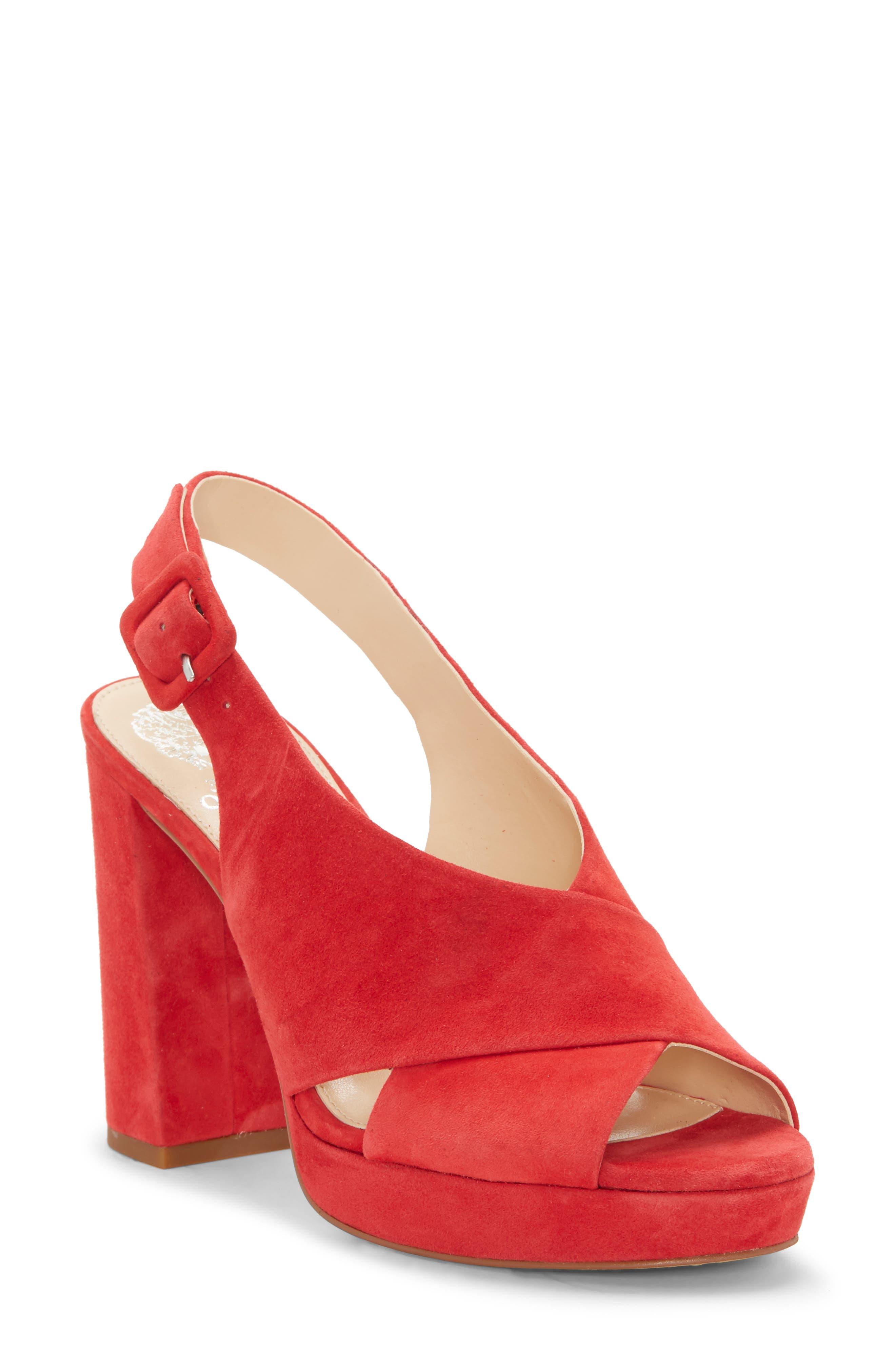 Vince Camuto Slingback Platform Sandal- Red