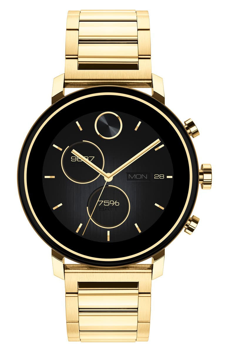 MOVADO Bold Connect 2.0 Chronograph Bracelet Watch, 42mm, Main, color, GOLD
