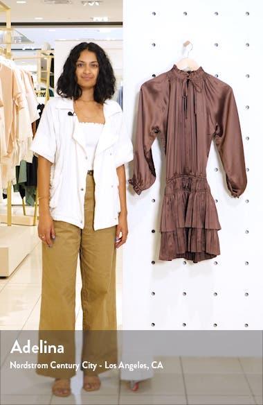 Andi Long Sleeve Satin Minidress, sales video thumbnail