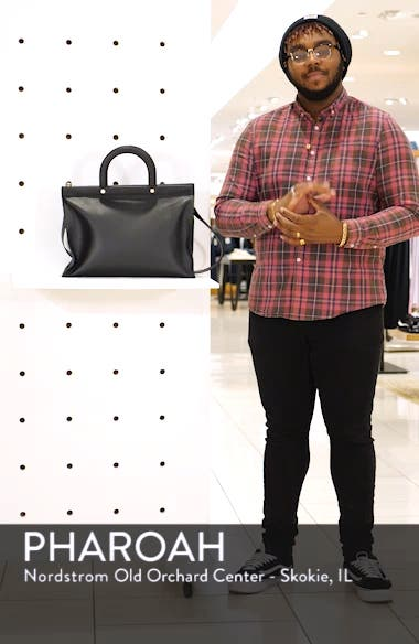 Miriian Stab Stitch Large Leather Tote, sales video thumbnail