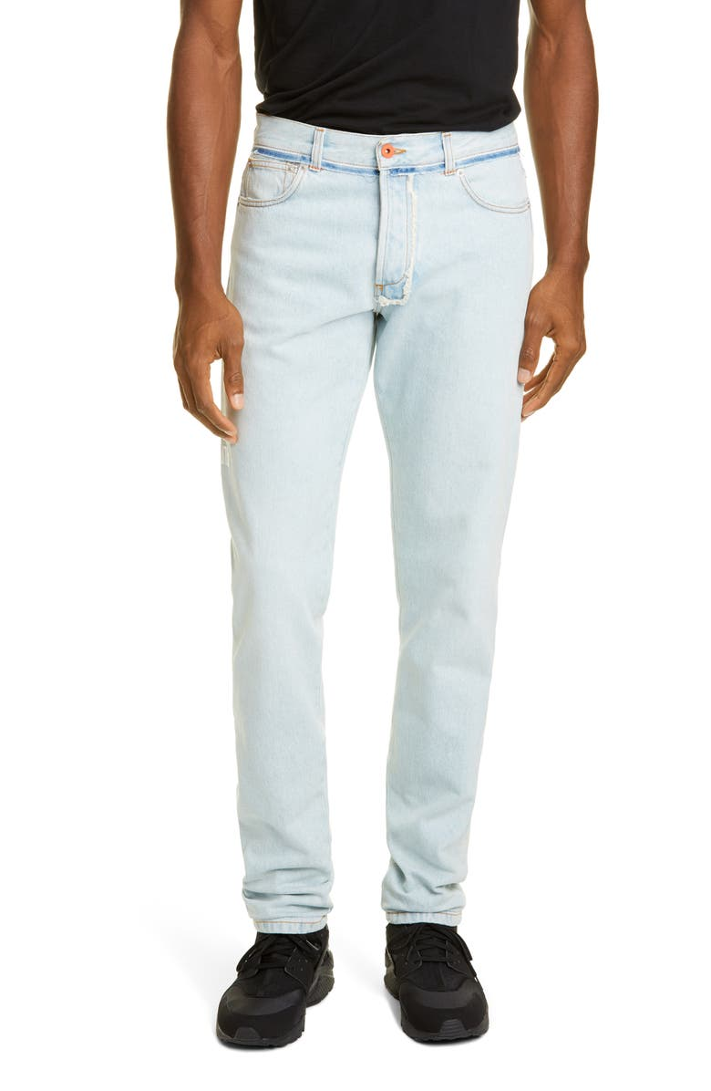 HERON PRESTON Regular Fit Jeans, Main, color, BLEACH WHITE