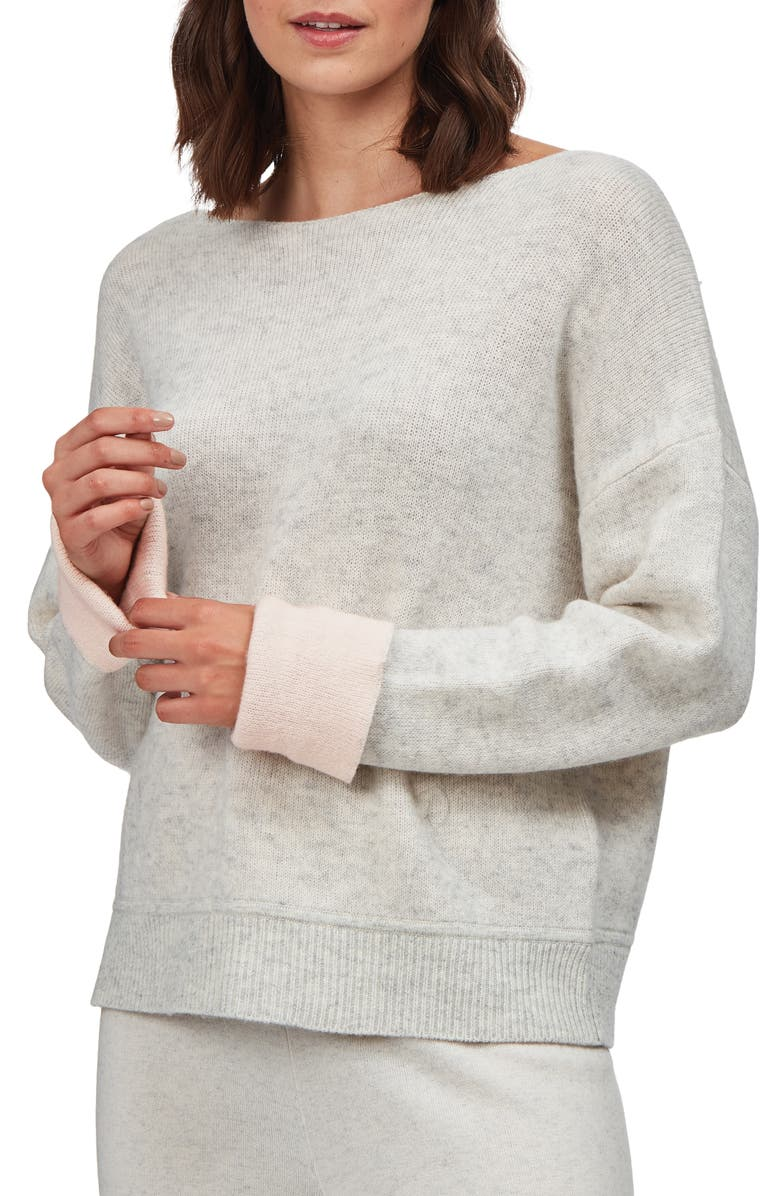THE WHITE COMPANY Double Face Wool & Cashmere Pullover Sweater, Main, color, PINK
