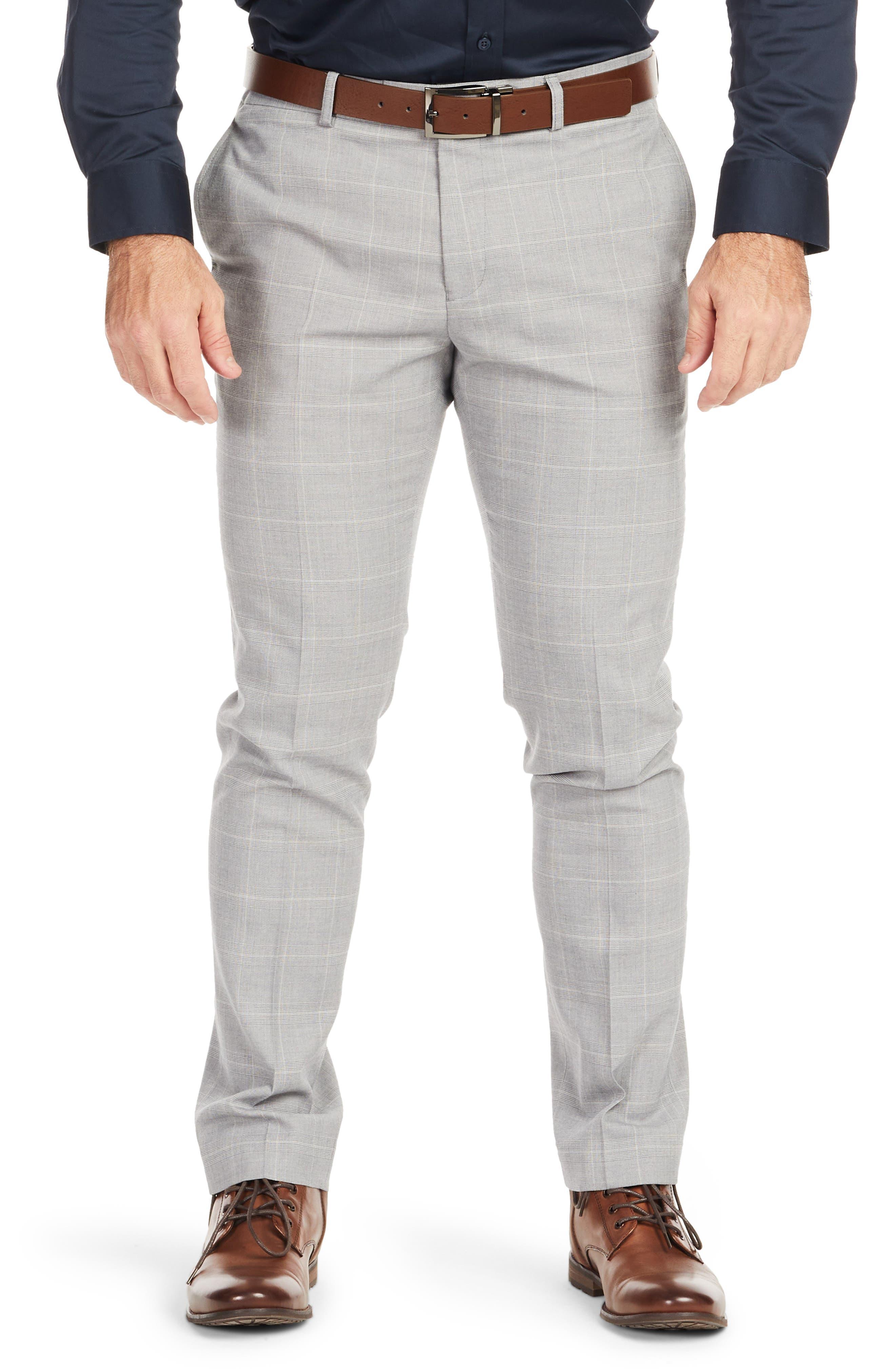 Chaz Plaid Stretch Dress Pants