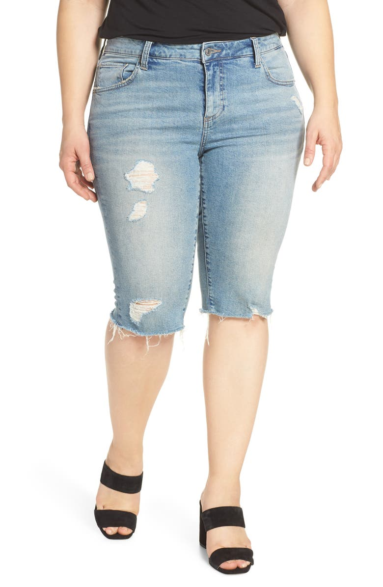 LUCKY BRAND Ginger Bermuda Shorts, Main, color, CHICK P