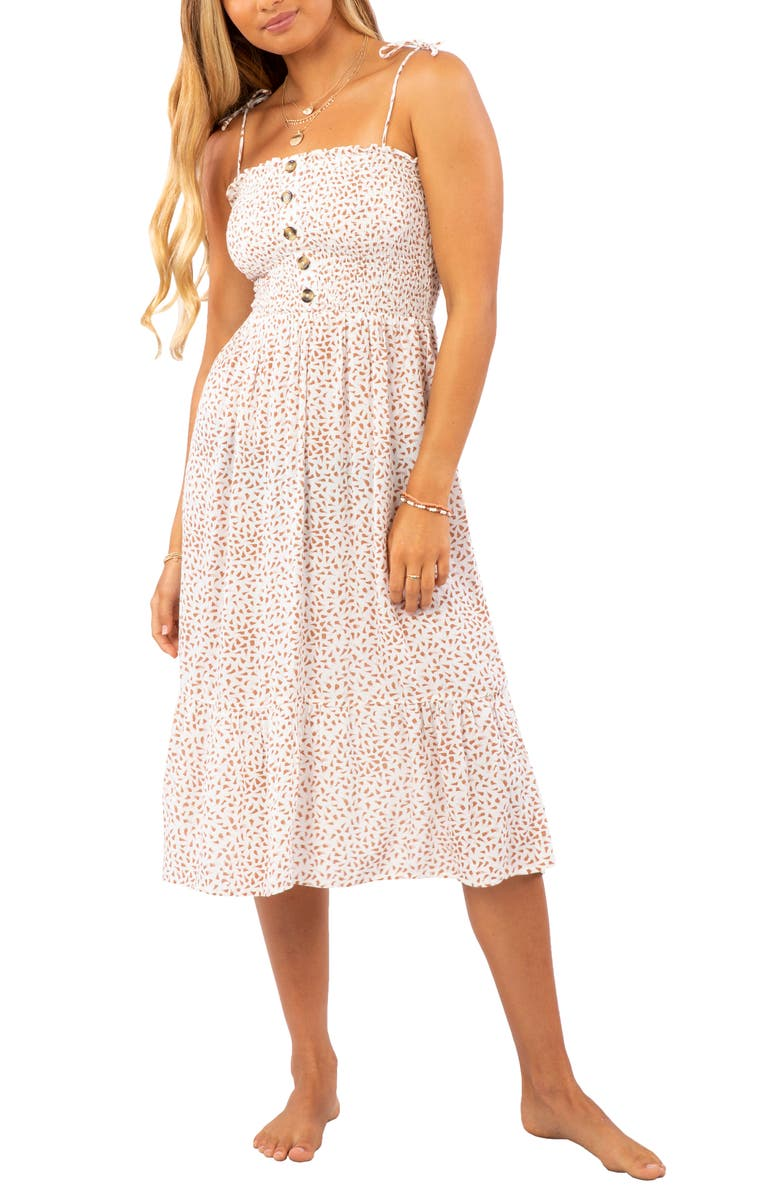 RIP CURL In the Tropics Sundress, Main, color, OFF WHITE