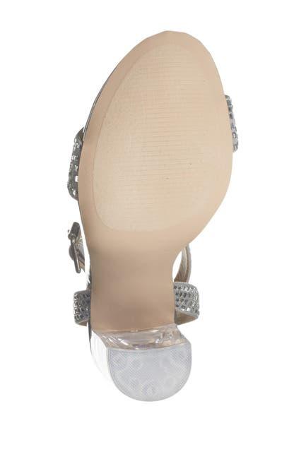 Image of Steve Madden Yaha Clear Heel Rhinestone Sandal