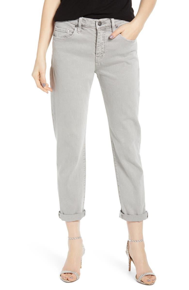 HUDSON JEANS Jessi Relaxed Crop Boyfriend Jeans, Main, color, SOFT GRIS