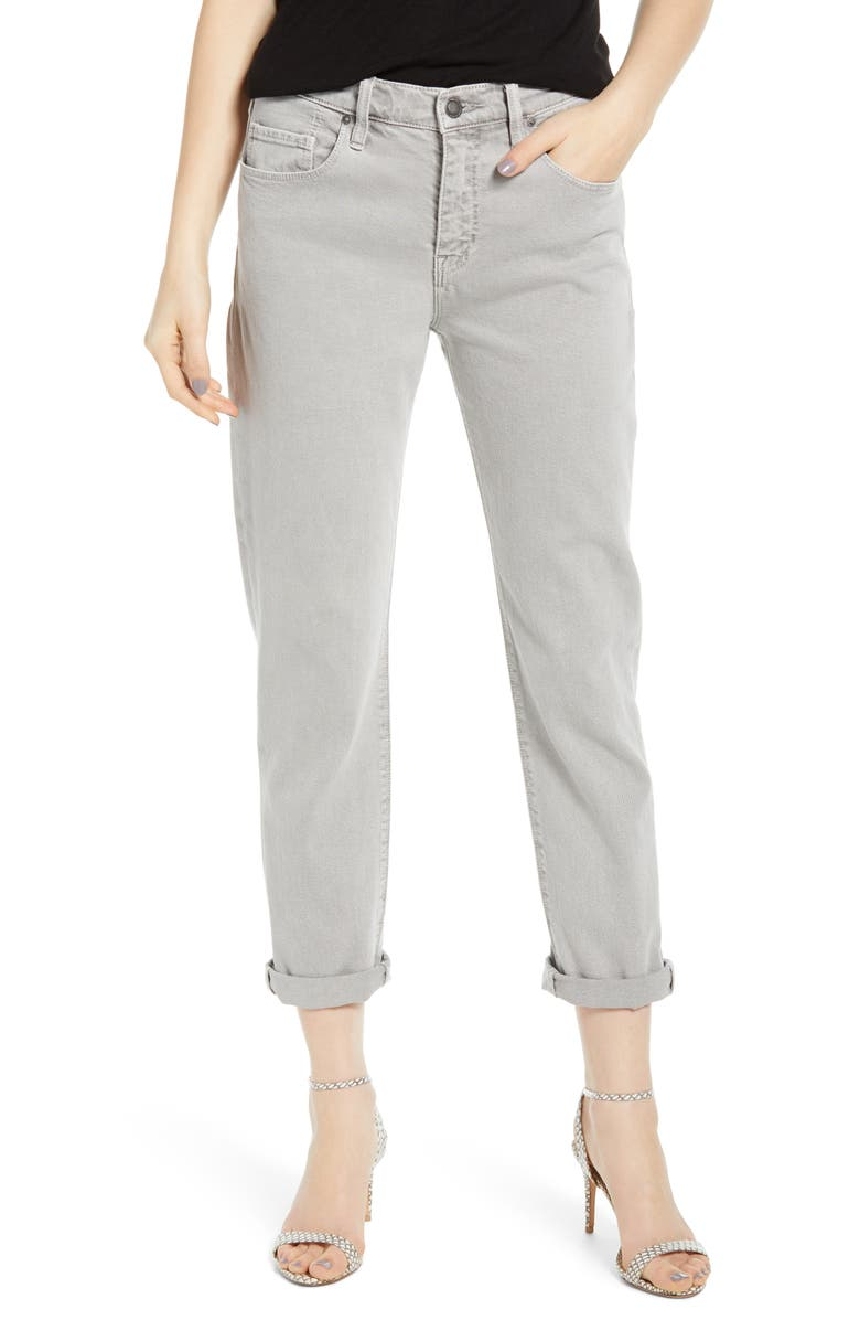 abc776324a91b Hudson Jeans Jessi Relaxed Crop Boyfriend Jeans (Soft Gris) | Nordstrom