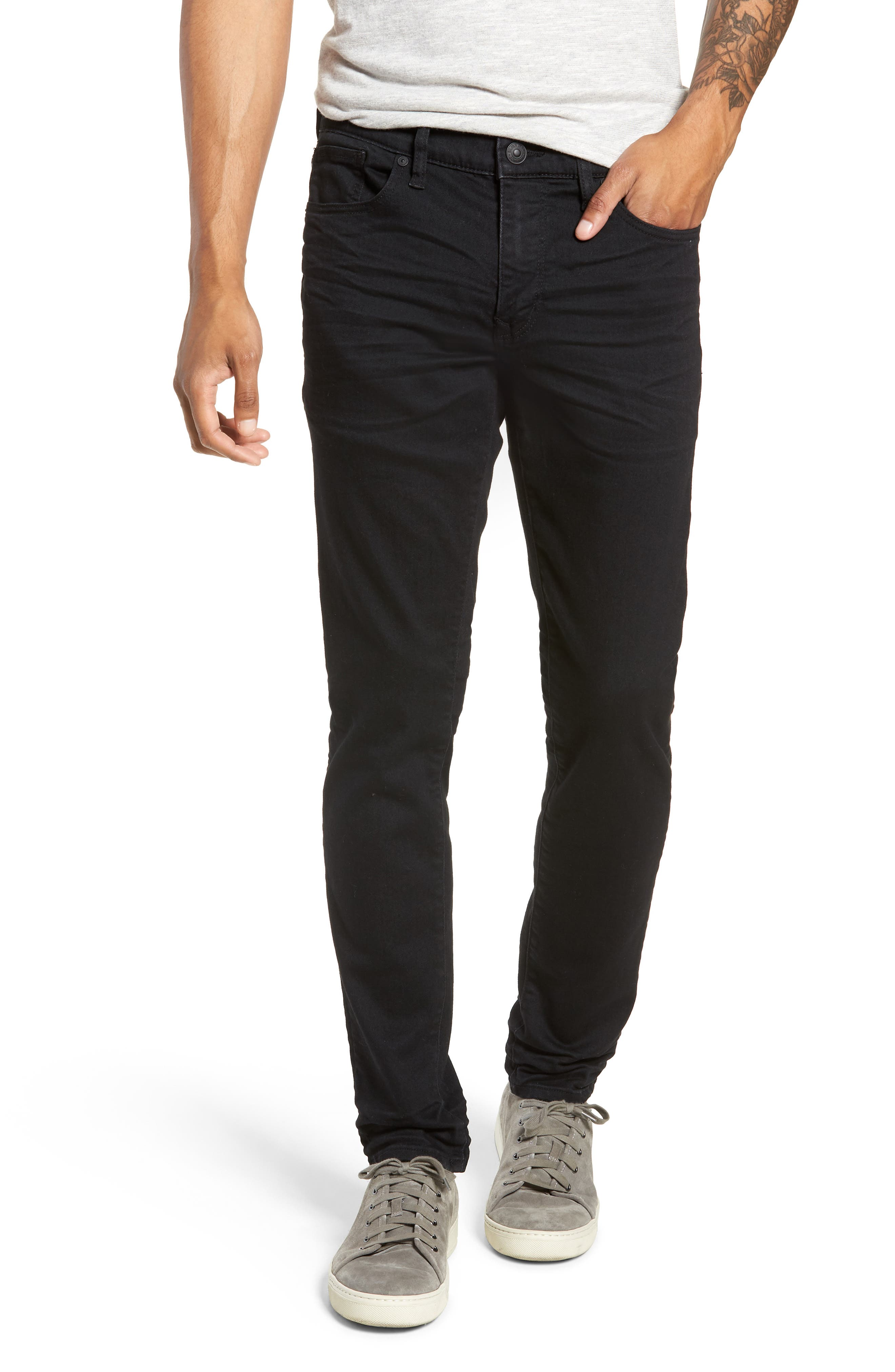 Machray Straight Fit Jeans, Main, color, BLACK