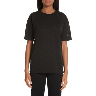 Stella Mccartney Angle Logo Tee, US / 40 IT - Black