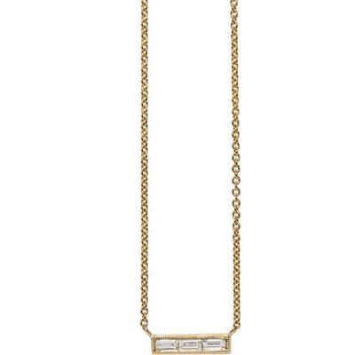 Sethi Couture Diamond Baguette Necklace