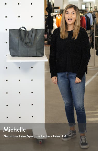 Studded Faux Leather Tote, sales video thumbnail