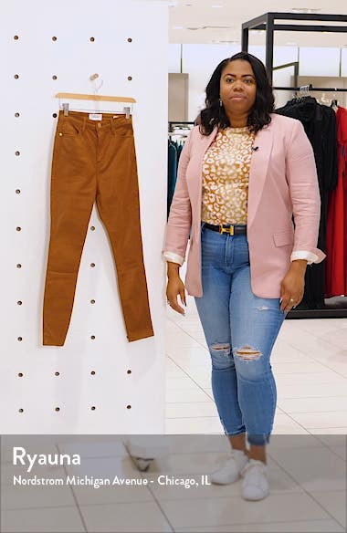 Ali Coated High Waist Crop Cigarette Jeans, sales video thumbnail