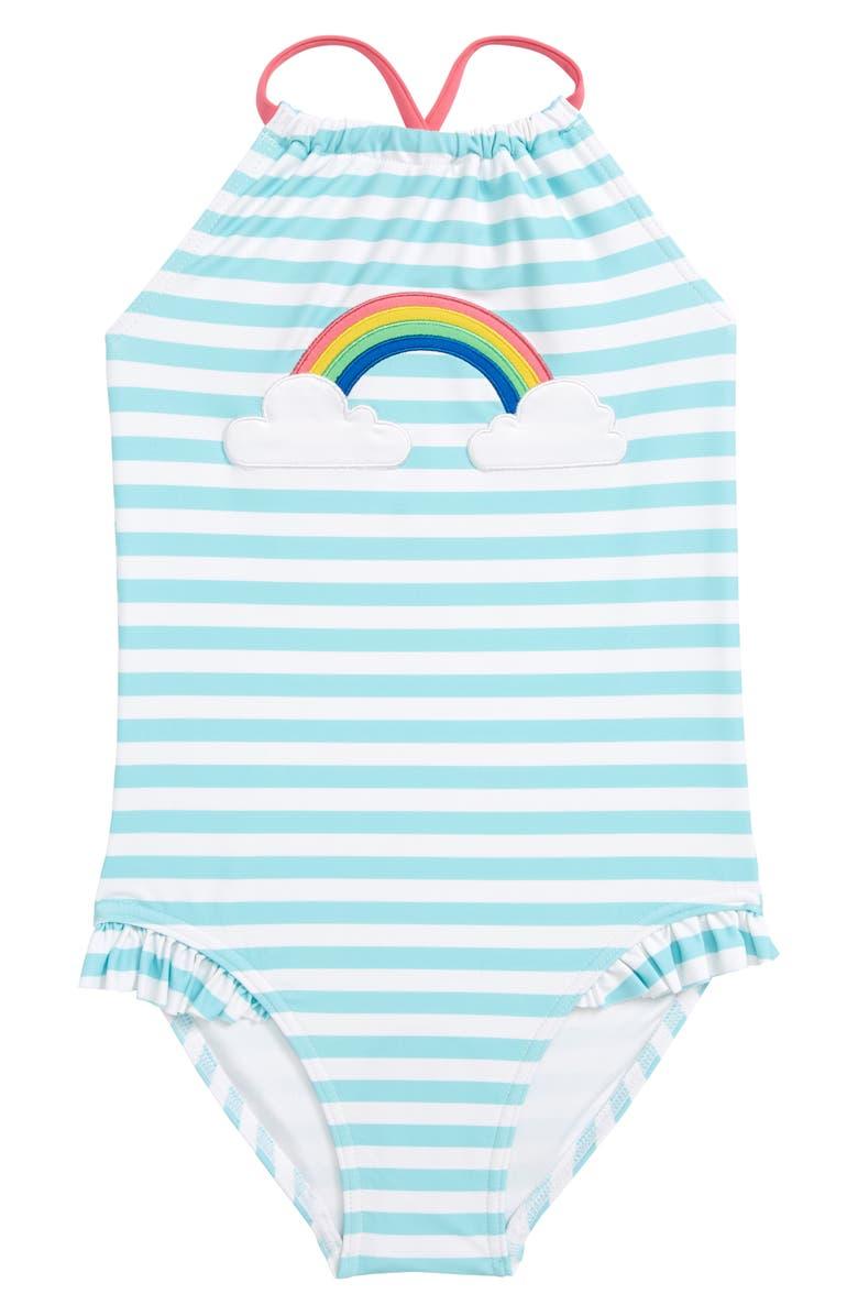 TUCKER + TATE Appliqué One-Piece Swimsuit, Main, color, 445