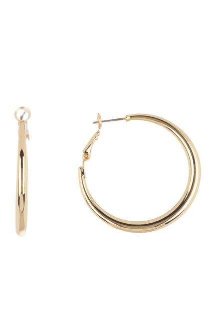 Image of Ettika 18K Gold Plated Simple Hoop Earrings