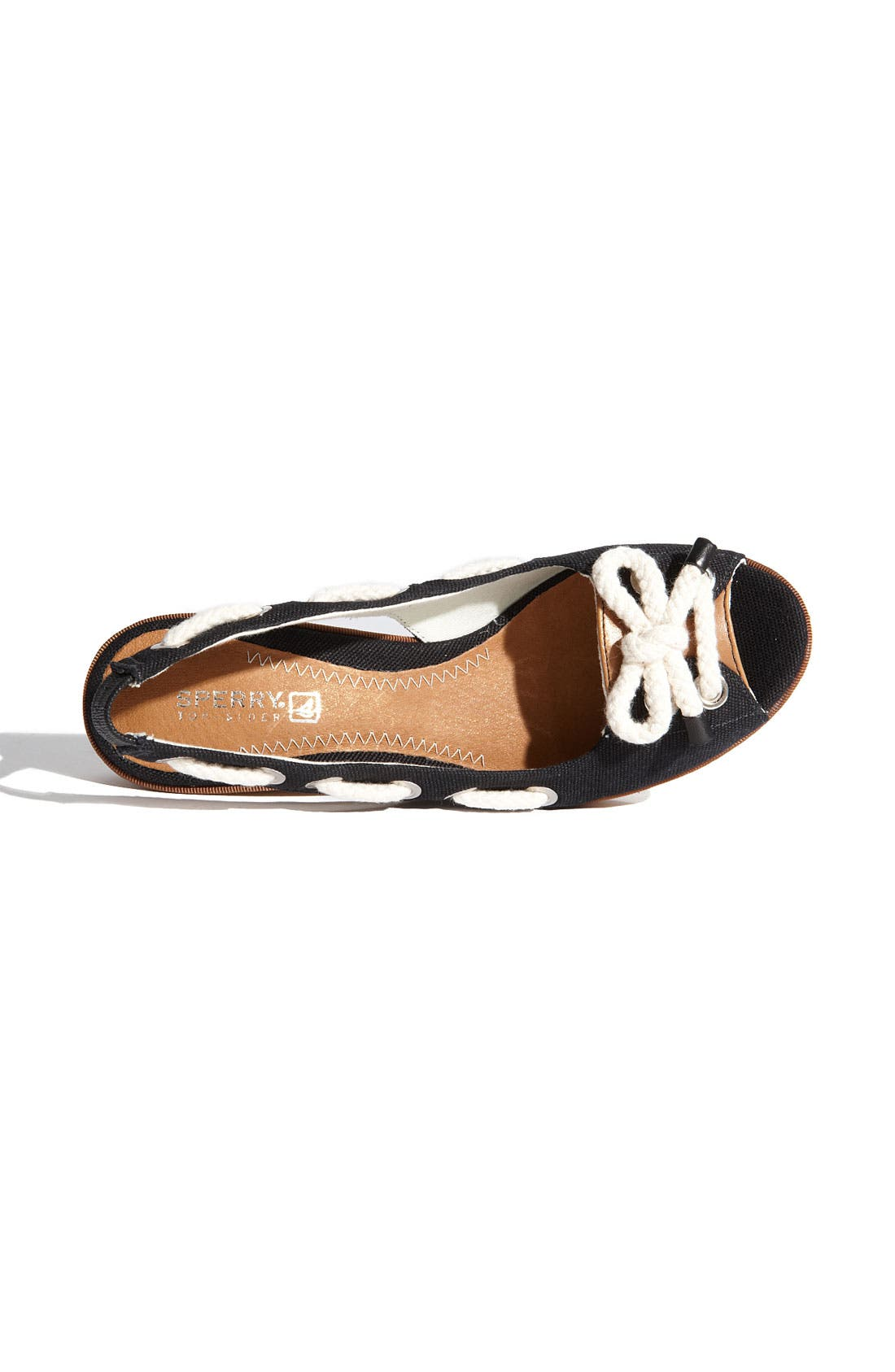,                             Top-Sider<sup>®</sup> 'Southport' Slingback Wedge,                             Alternate thumbnail 5, color,                             002