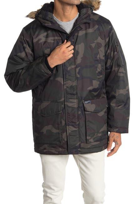 Image of Hawke & Co. Faux Fur Trim Long Snorkal Jacket