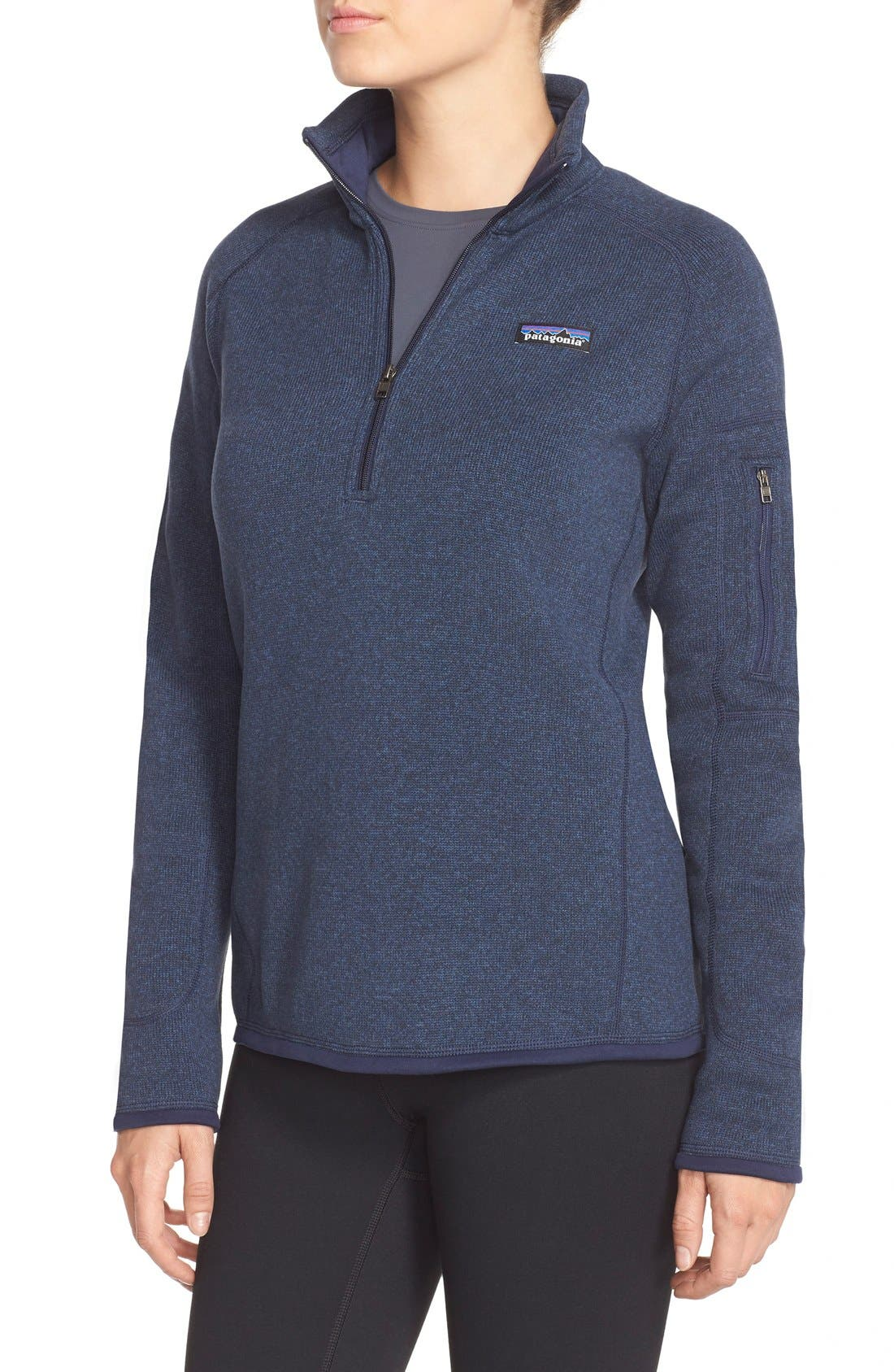 ,                             Better Sweater Zip Pullover,                             Alternate thumbnail 5, color,                             CLASSIC NAVY