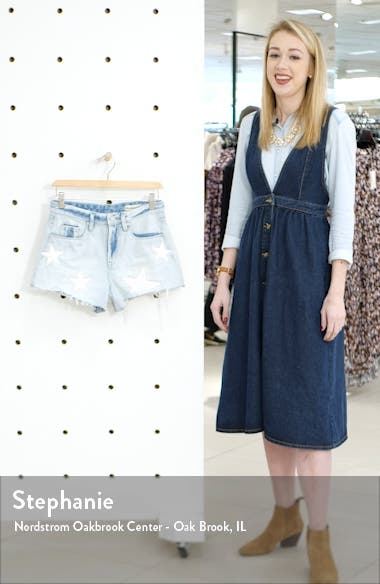 The Barrow Allstar Patch High Waist Denim Shorts, sales video thumbnail