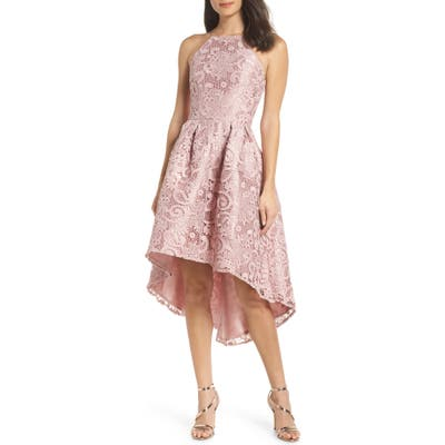 Chi Chi London Lace Dip High/low Dress