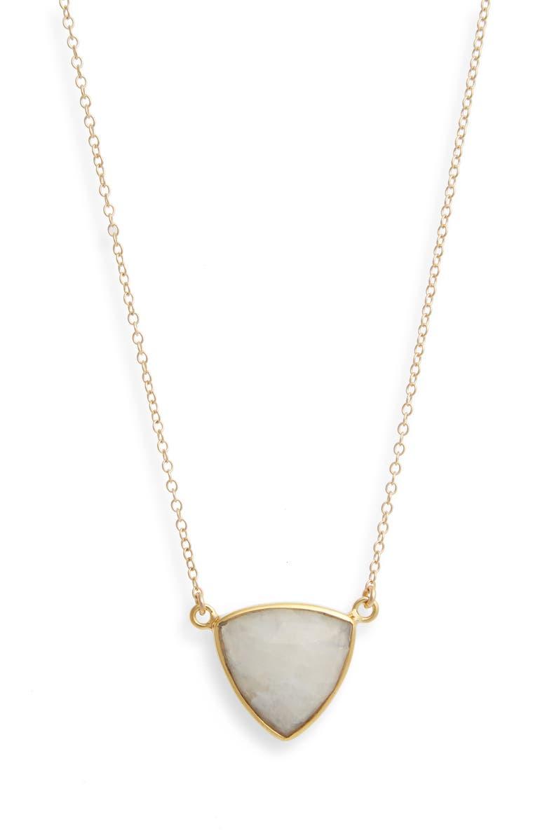 LEAH ALEXANDRA Trillium Pendant Necklace, Main, color, 100