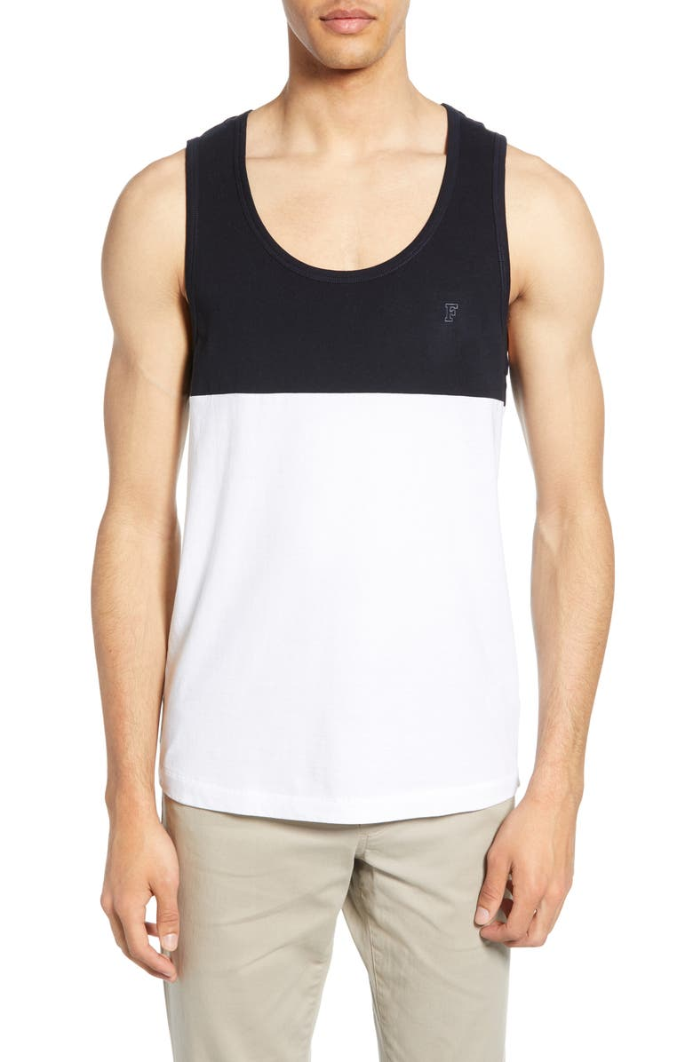 FRENCH CONNECTION Colorblock Tank, Main, color, 412