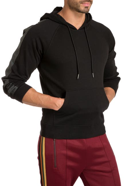 Image of Jared Lang Reflective Tape Knit Hoodie