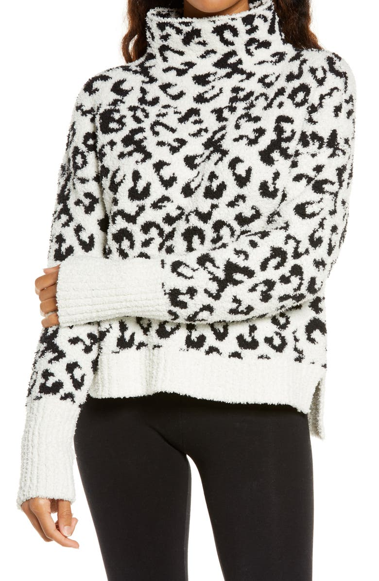 UGG<SUP>®</SUP> Sage Cowl Neck Pullover, Main, color, SNOW LEOPARD