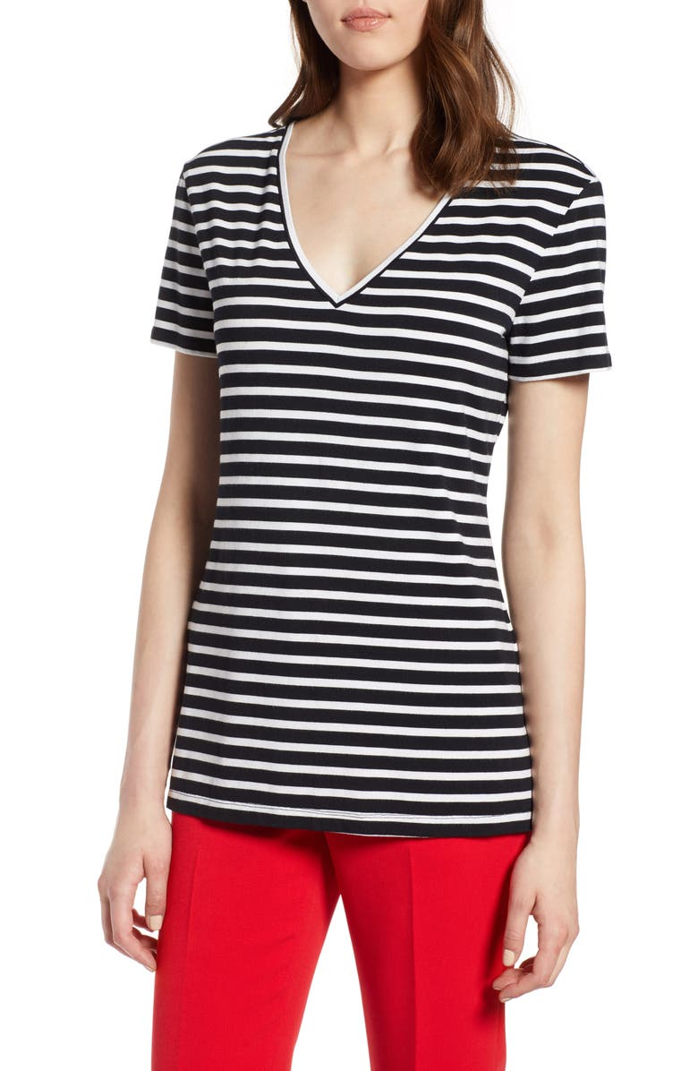 HALOGEN<SUP>®</SUP> V-Neck Tunic Tee, Main, color, NO_COLOR