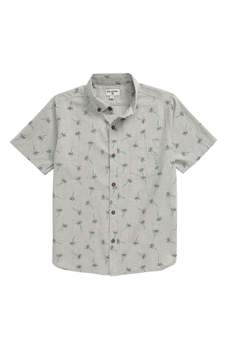 BILLABONG Sundays Button-Down Shirt, Main, color, LIGHT GREY