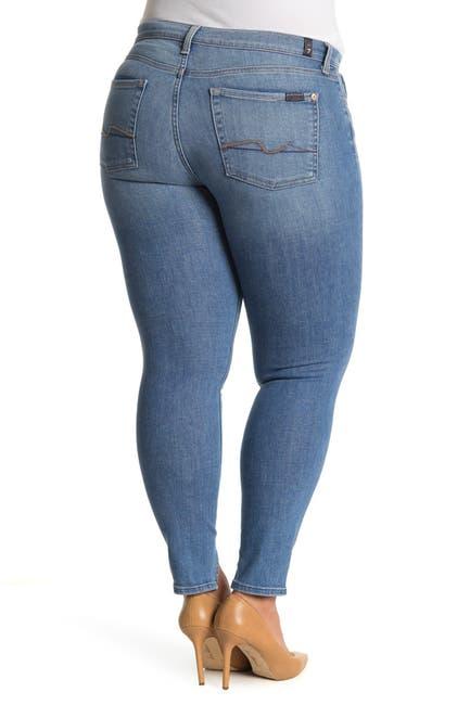 Image of 7 For All Mankind Josefina Split Hem Skinny Jeans
