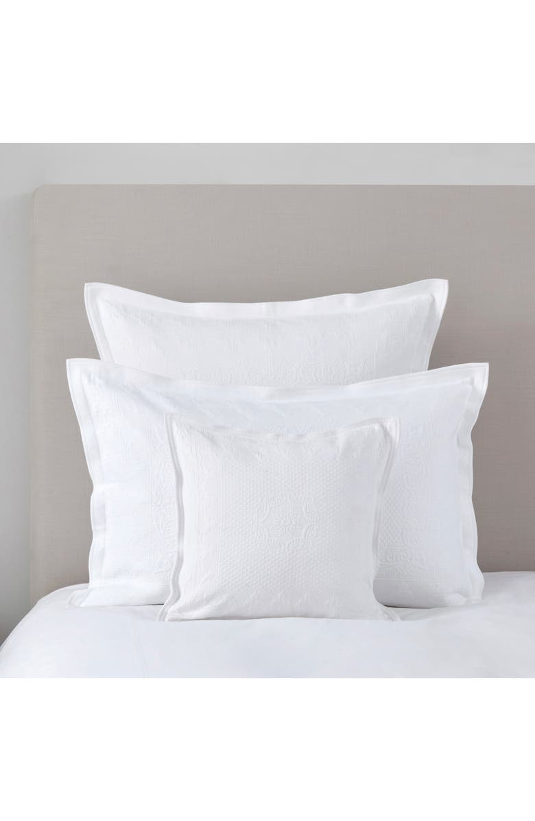 THE WHITE COMPANY Vintage Etienne Cushion Cover, Main, color, WHITE