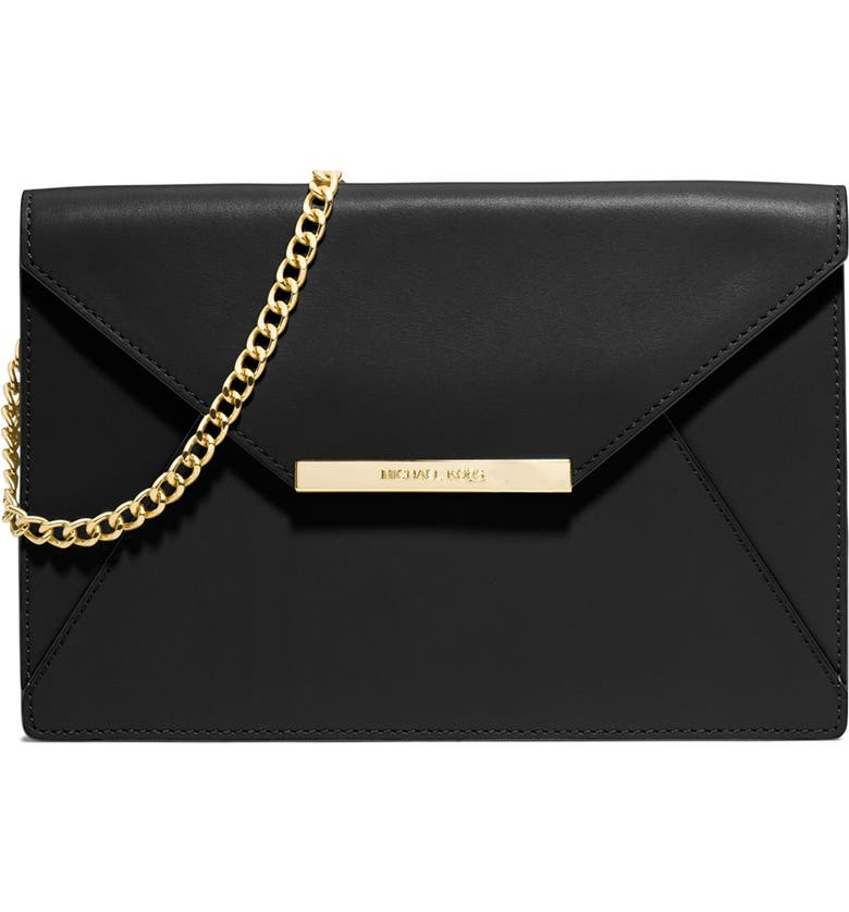 MICHAEL MICHAEL KORS 'Lana' Envelope Clutch, Main, color, 001