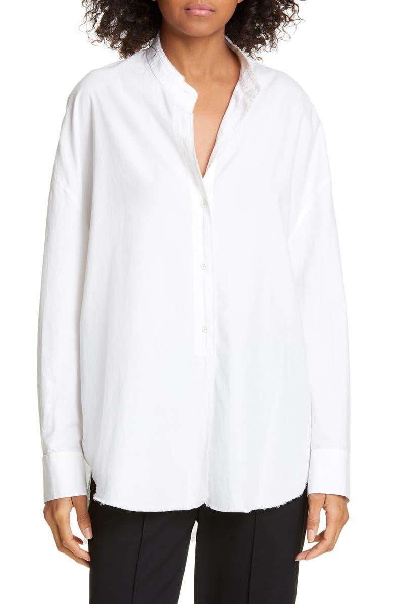 VINCE Oversized Cotton Shirt, Main, color, OPTIC WHITE