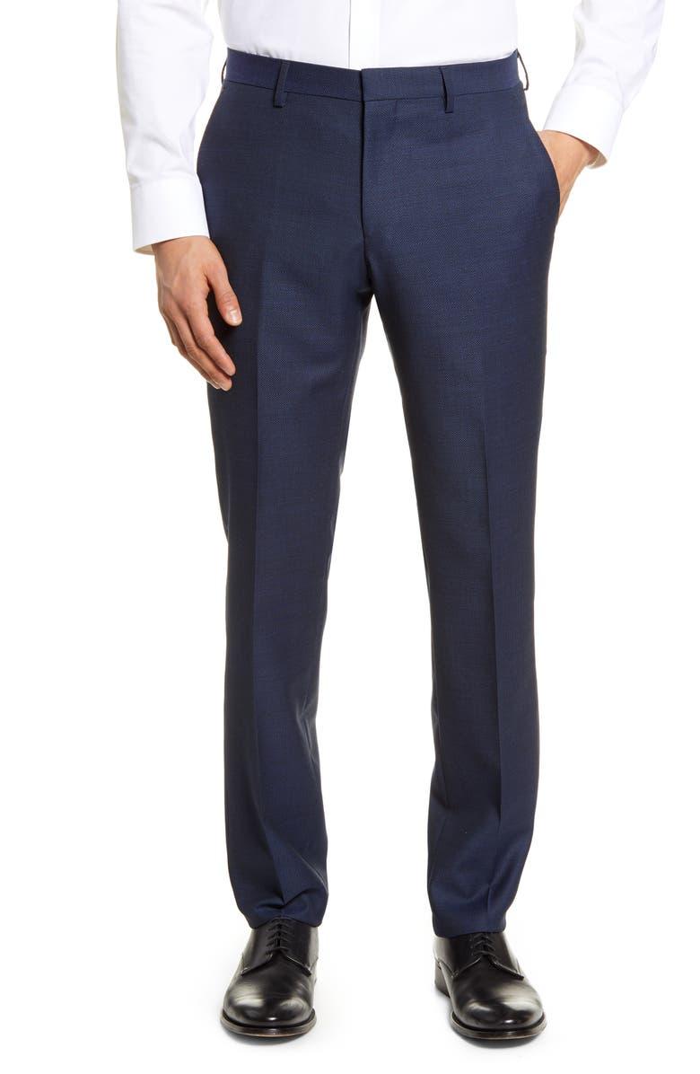BOSS Genius Slim Fit Wool Dress Pants, Main, color, 402