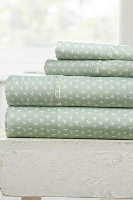 Image of IENJOY HOME Elegant Urban Arrows Pattern 4-Piece Sheet Set - Jade - California King