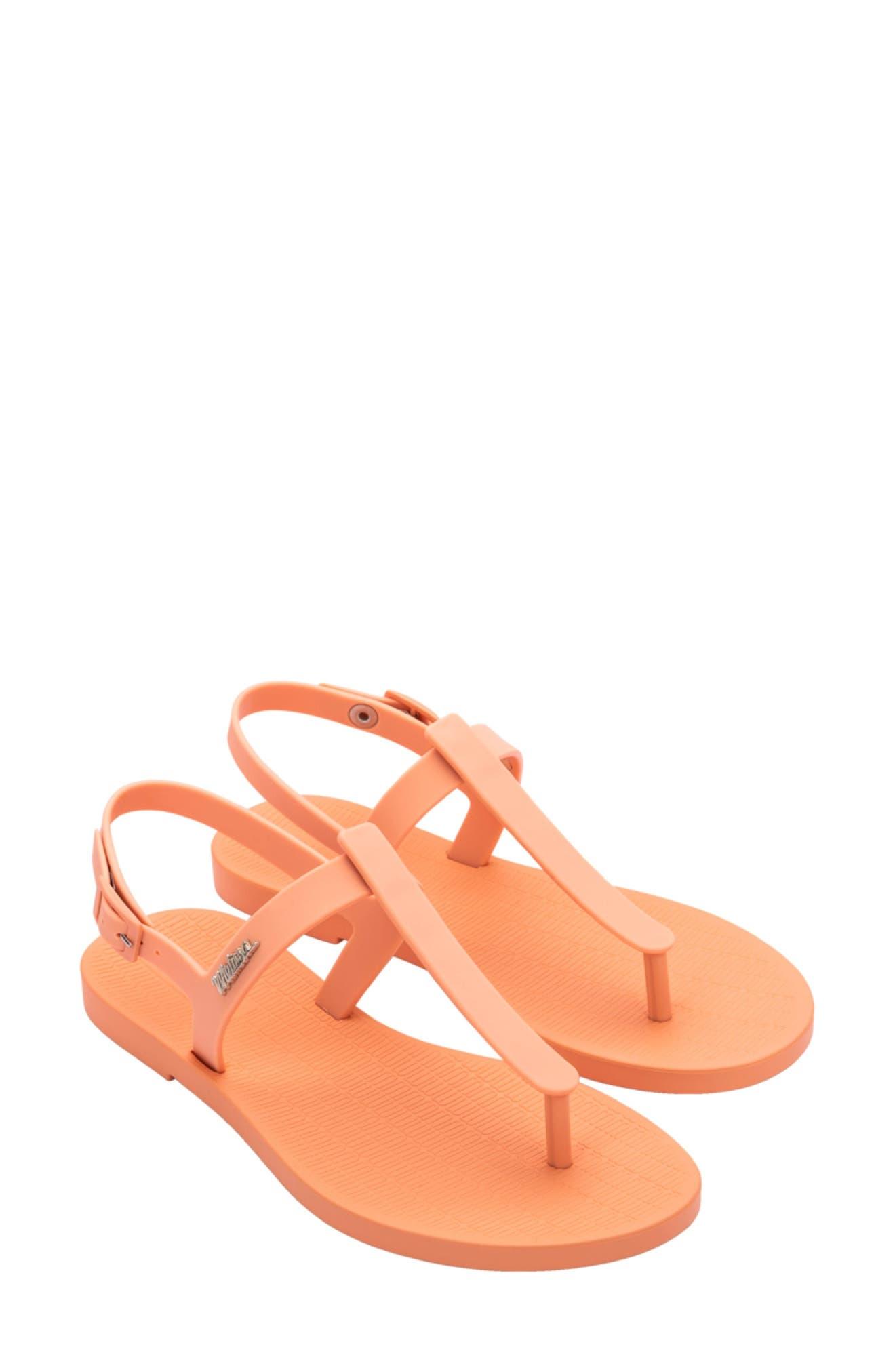 Arch Support Flip Flop Sandales pour femme Marron W Orange Fleurs quantité limitée