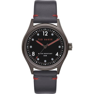 Ted Baker London Beleeni Leather Strap Watch, 40Mm
