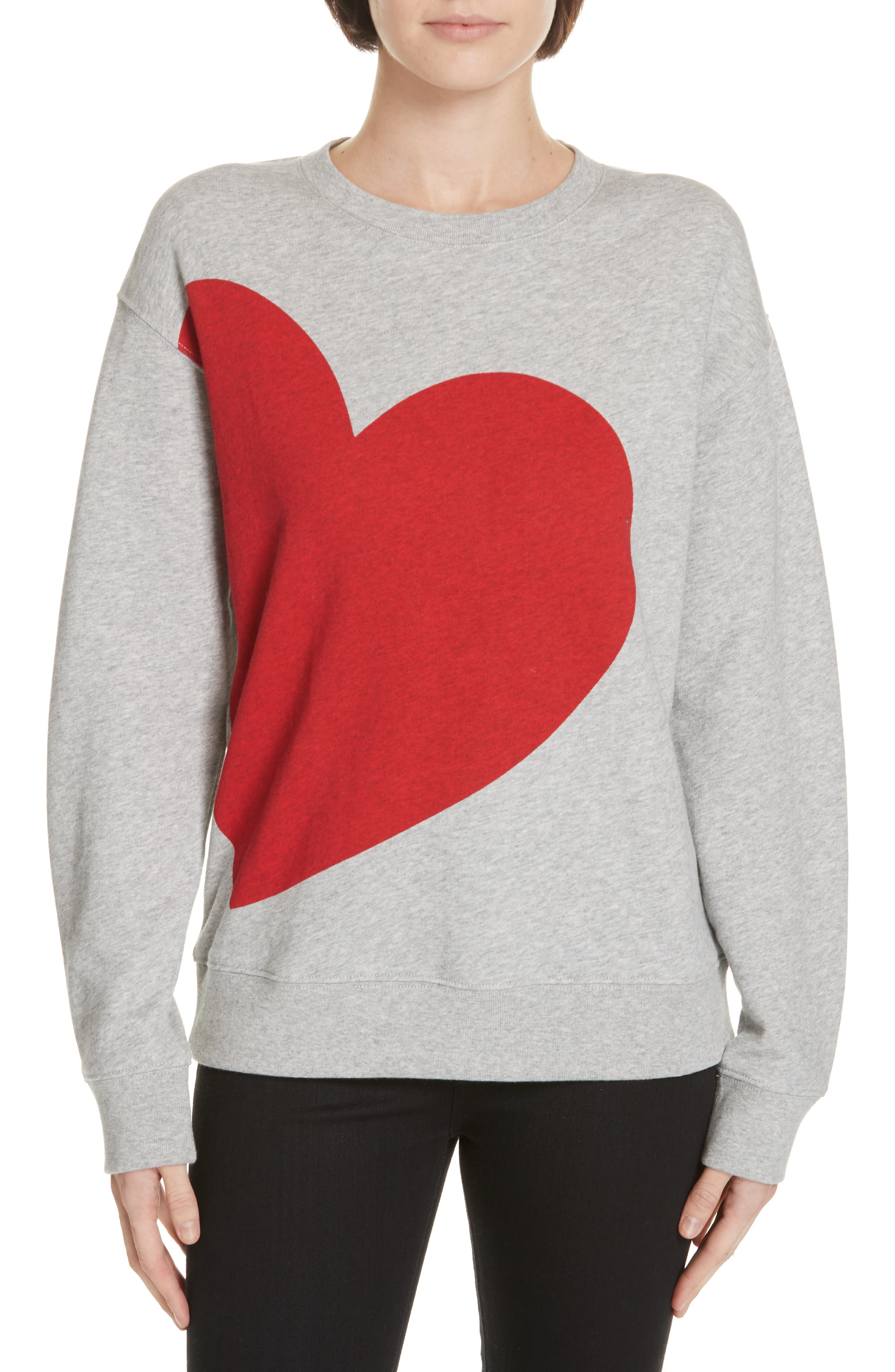 I Love Heart Mules Black Sweatshirt